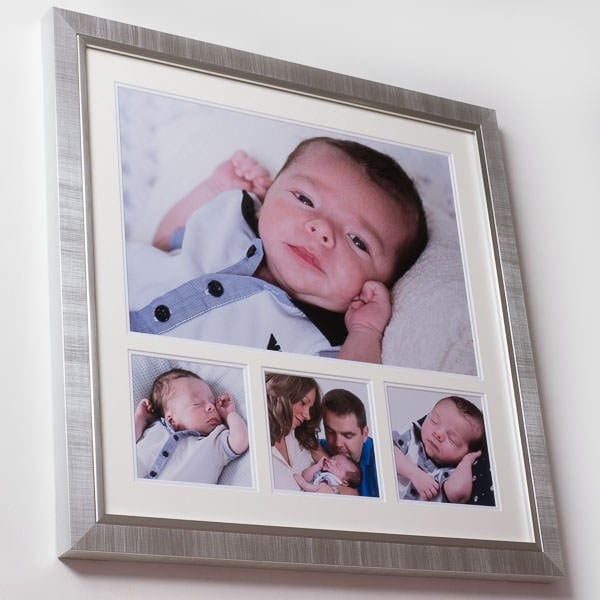 Oxford - Silver/Silver 4 Image Frame