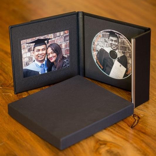 Black CD Folio with black presentaton box