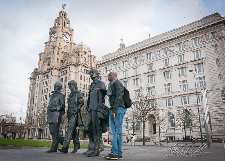 Location Portrait Session-Beatles Statue, Pier Head, Liverpool