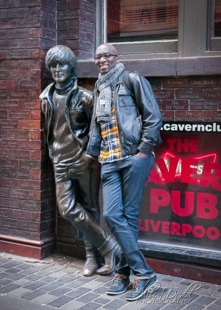 Location Portrait Session-John Lennon Statue, Cavern Club, Liverpool