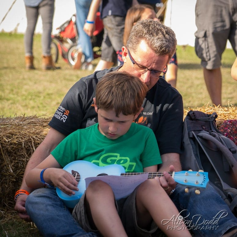 Ukulele workshop at The Good Life Experience Festival 2016