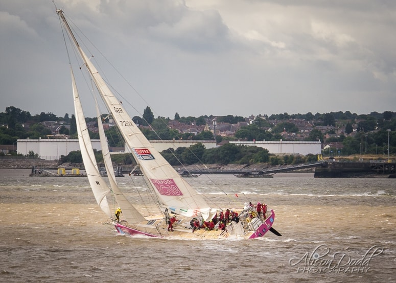 Liverpool Clipper Winning The Sprint Finish Up The River Mersey, In The Liverpool Clipper Rave 2018