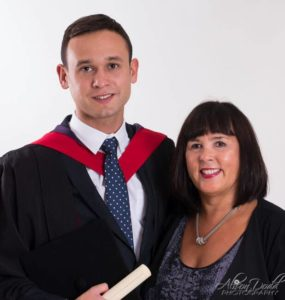 Graduation Photography - Mobile Studio Portrait Session at Family Home