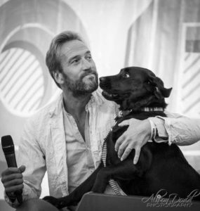 Event Photography-Ben Fogle and Storm the labrador at The Good Life Experience