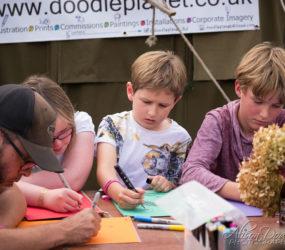 David Setter, AKA DoodlePlanet is an illustrator hosting a Doodle Workshop at The Good Life Experience