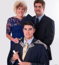 Graduation Photography - Mobile Studio Portrait Session at Family Home