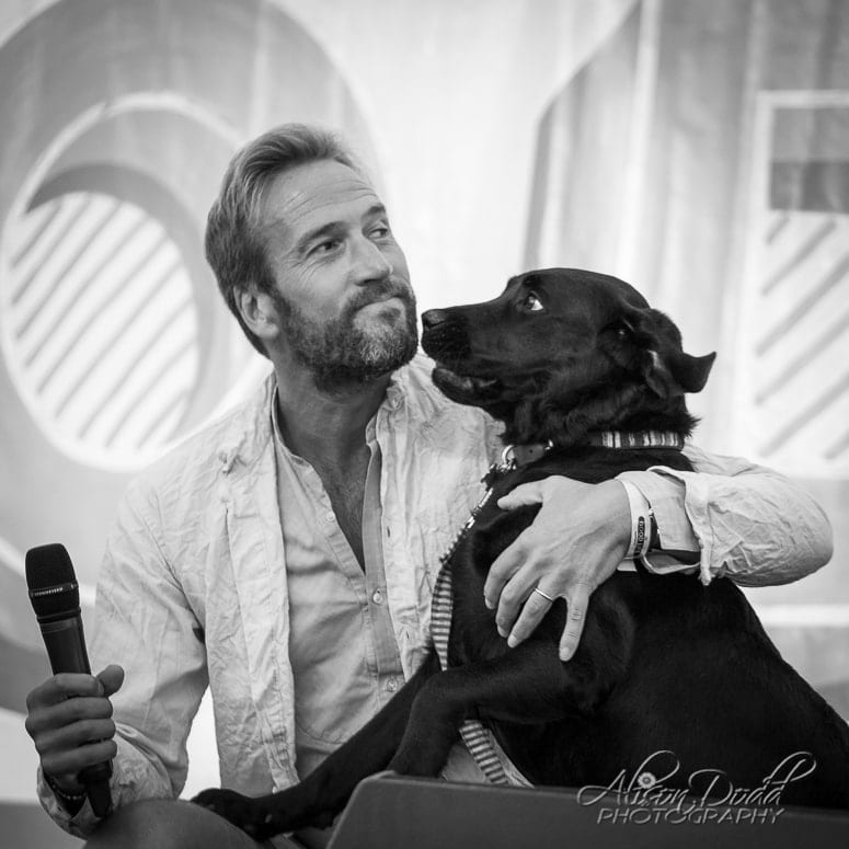Ben Fogle and his labrador Storm at The Good Life Experience