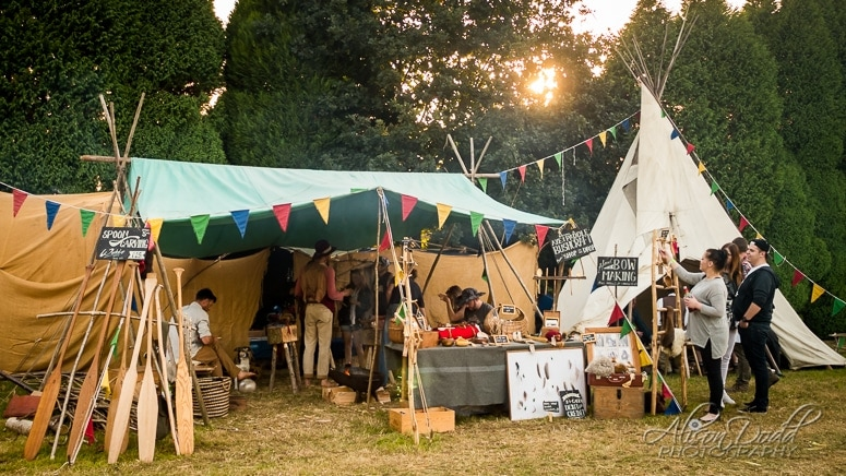 Spoon Carving, Axe Paddle Bushcraft and Bow Making and Shop and Workshops at The Good Life Experience Festival 2016